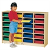 Jonti-Craft 24 Paper-Tray Mobile Storage - with Colored Paper-Trays