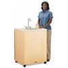 "Birch Clean Hands Helper - 38"" Counter - Plastic Sink"