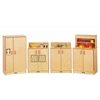 Jonti-Craft Natural Birch Play Kitchen 4 Piece Set - ThriftyKYDZ