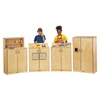 School Age Natural Birch Play Kitchen Refrigerator