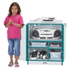 Rainbow Accents Media Cart - Lockable - Teal