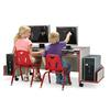 Rainbow Accents Enterprise Double Computer Desk - Red