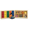 Jonti-Craft E-Z Glide 20 Cubbie-Tray Fold-n-Lock - with Colored Trays