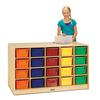 Double-Sided Island – 40 Cubbie-Tray - with Colored Trays