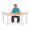 "Multi-Purpose Trapezoid Table - 14"" High - Orange"