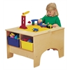 Jonti-Craft KYDZ Building Table - Lego Compatible - with Colored Tubs
