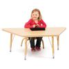 "Trapezoid Activity Tables - 24"" X 48"", Mobile - Oak/Black/Black"