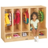 Toddler 5 Section Coat Locker with Step - without Trays