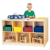 Jonti-Craft Mobile Twin Storage Island - with Colored Trays