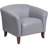 Flash Furniture HERCULES Imperial Series Gray Leather Chair