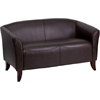 HERCULES Imperial Series Brown Leather Loveseat