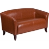 HERCULES Imperial Series Cognac Leather Loveseat