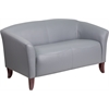 HERCULES Imperial Series Gray Leather Loveseat