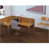 Bestar Pro-Biz single Left L-desk workstation in Cappuccino Cherry