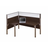 Bestar Pro-Biz single Left L-desk workstation in Chocolate