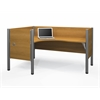 Pro-Biz single Left L-desk workstation in Cappuccino Cherry
