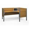 Pro-Biz single Right L-desk workstation in Cappuccino Cherry