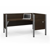 Pro-Biz single Right L-desk workstation in Chocolate