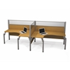 Bestar Pro-Biz Double side-by-side L-desk workstation in Cappuccino Cherry
