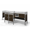 Bestar Pro-Biz Double side-by-side L-desk workstation in Chocolate