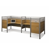 Pro-Biz Double back to back L-desk workstation in Cappuccino Cherry
