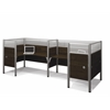 Bestar Pro-Biz Double back to back L-desk workstation in Chocolate