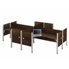 Bestar Pro-Biz Four L-desk workstation in Chocolate