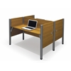 Bestar Pro-Biz Double face to face workstation in Cappuccino Cherry