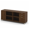 Bestar Pro-Linea Credenza with three drawers in Oak Barrel
