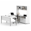 Bestar Pro-Linea U-Desk with hutch in White