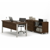 Bestar Pro-Linea Executive set in Oak Barrel