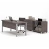Bestar Pro-Linea Executive set in Bark Gray