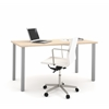 Bestar i3 by Bestar Table with metal legs in Northern Maple