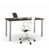Bestar i3 by Bestar Table with metal legs in Tuxedo