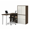 i3 L-Shaped desk in Tuxedo and Sandstone
