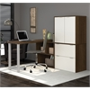 Bestar i3 by Bestar L-Shaped desk in Tuxedo and Sandstone