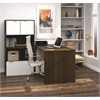 Bestar i3 by Bestar L-Shaped desk in Tuxedo and Sandstone