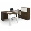 Bestar i3 by Bestar U-Shaped desk in Tuxedo and Sandstone