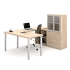 i3 U-Shaped desk in Northern Maple