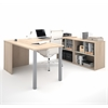 i3 U-Shaped desk in Northern Maple and Sandstone