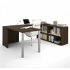 i3 U-Shaped desk in Tuxedo and Sandstone