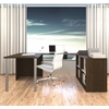 Bestar i3 by Bestar U-Shaped desk in Tuxedo and Sandstone