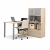 Bestar i3 by Bestar L-Shaped desk in Northern Maple