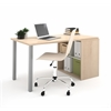 Bestar i3 by Bestar Workstation in Northern Maple and Sandstone