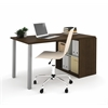 Bestar i3 by Bestar Workstation in Tuxedo and Sandstone