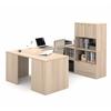 Bestar i3 by Bestar U-Shaped desk in Northern Maple