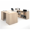 Bestar i3 by Bestar U-Shaped desk in Northern Maple