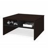 Bestar Small Space 29.5-inch Storage Coffee Table in Dark Chocolate and Black