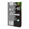 Bestar Small Space 19.5-inch Add-on Storage Tower in Dark Chocolate and Black