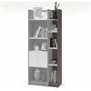 Bestar Small Space 9.5-inch Add-on Storage Tower in Bark Gray and White